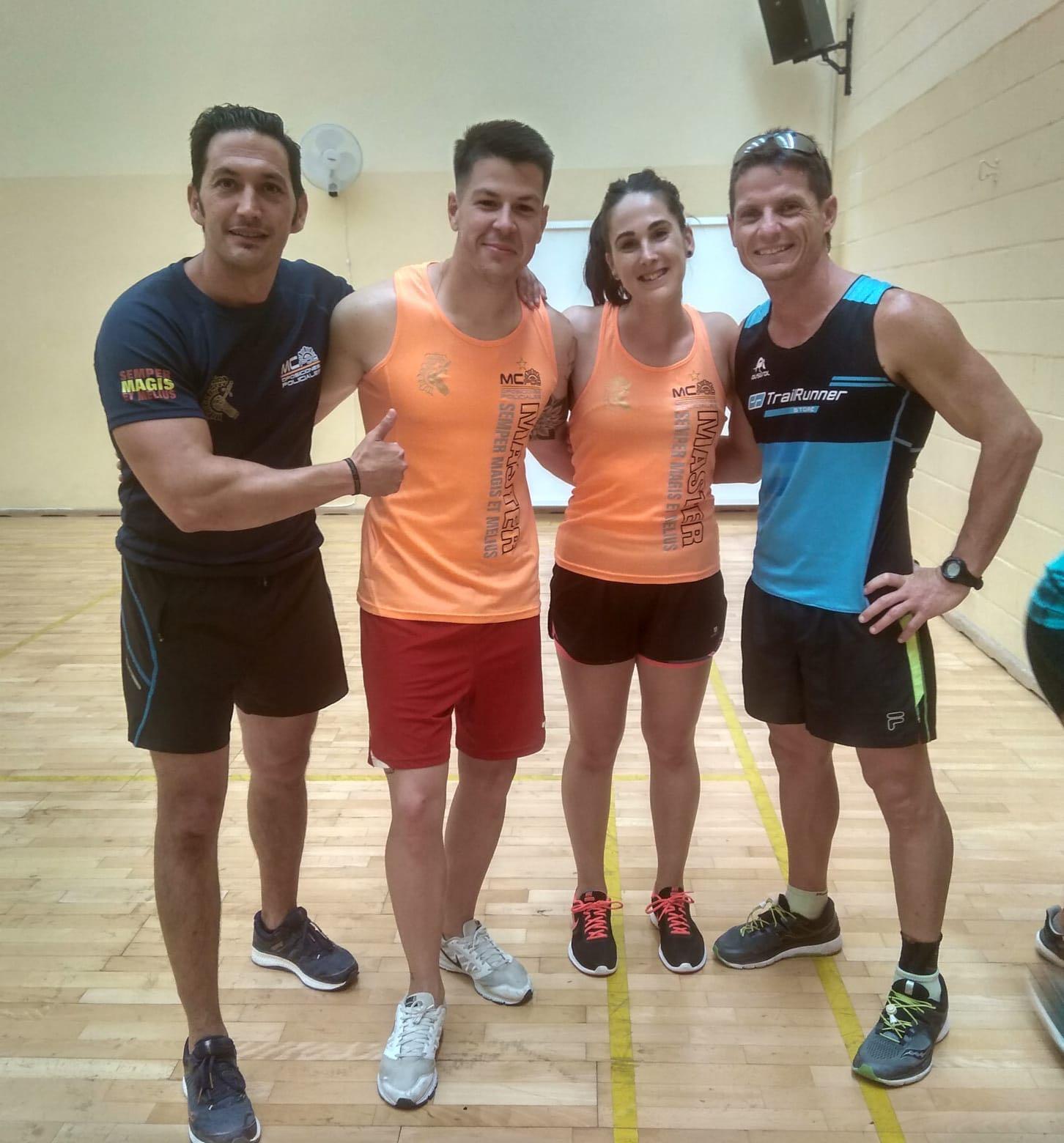 Raúl y Nieves con nuestros McEntrenadores Rafa y Paco
